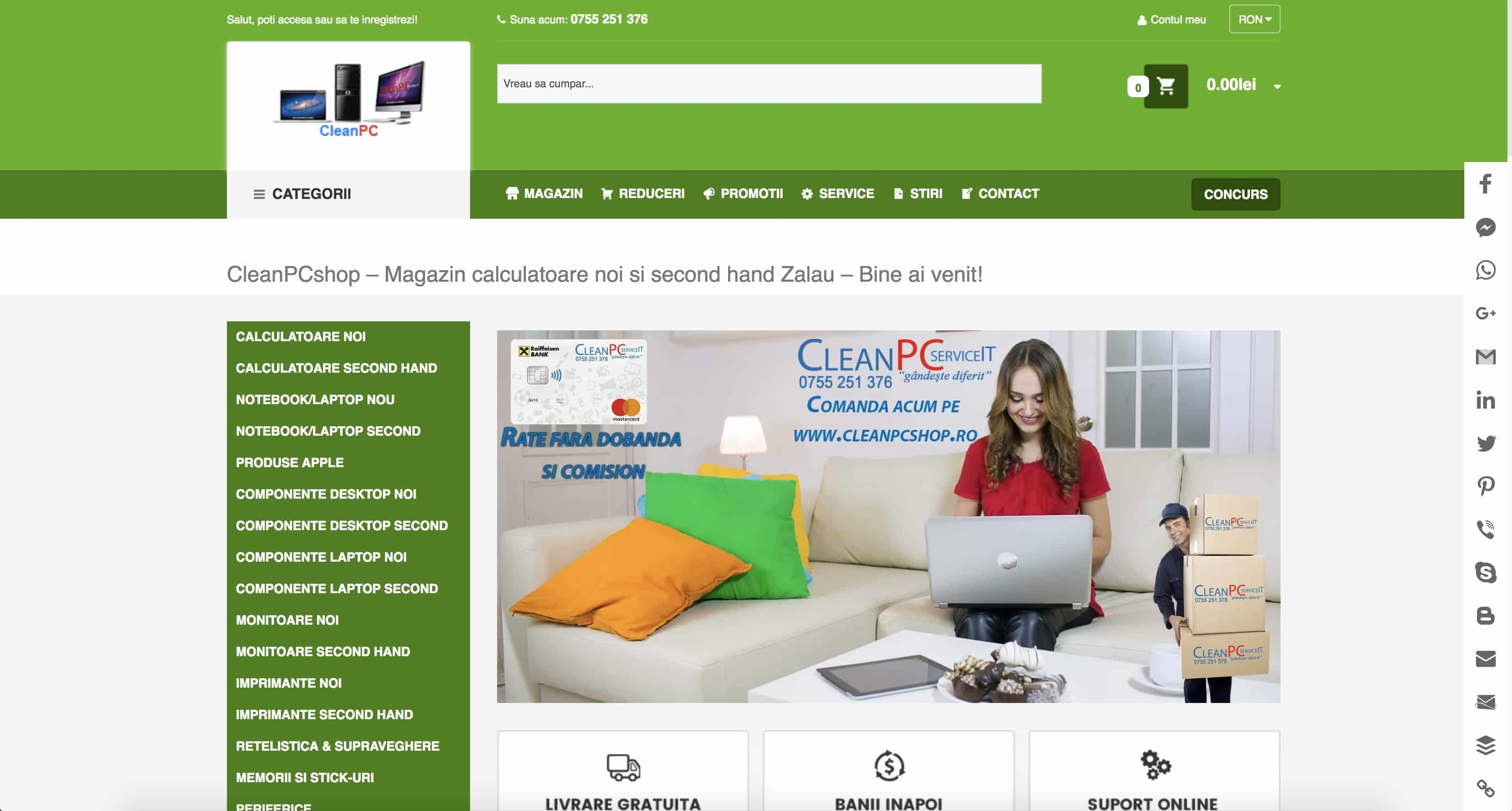 CleanPC Zalau CleranPCshop Web Design